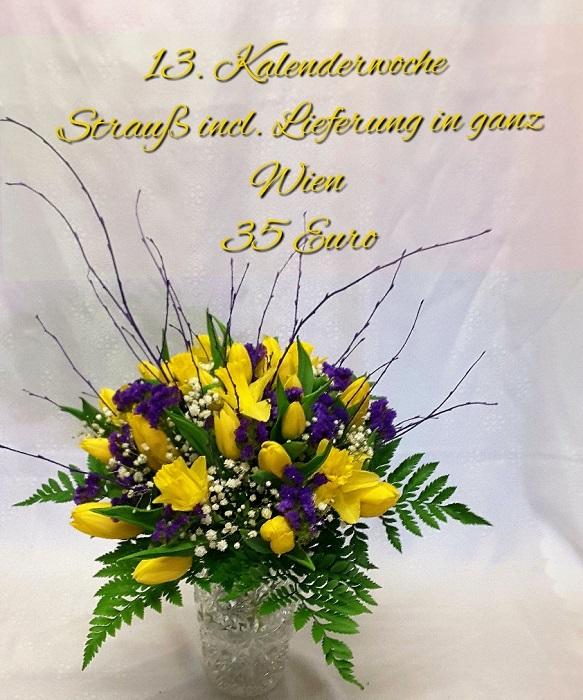 Tulpen-Märzenbecher-Strauß