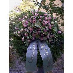 Begräbniskranz Altrosa