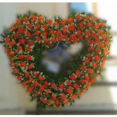 Begräbnis  Rosenherz orange