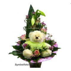 Blumenstrauss mit Schutzengel
