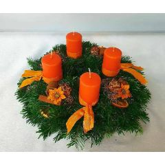 Mittlerer Adventkranz orange