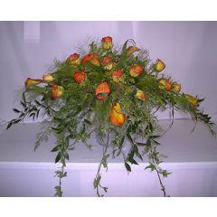 Haupt Tisch-Gesteck orange