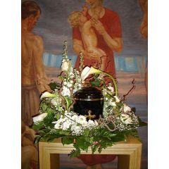 Urnengesteck mit Calla